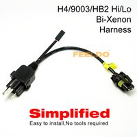 Wholesale Bi Xenon Relay - FEELDO Simplified H4 9003 HB2 Hi Lo Bi-Xenon HID Bulbs Relay Harness Wiring Controller #4514