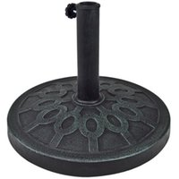 Wholesale New Patio Umbrella Base LB Resin Stand Outdoor For FT Feet Aged Metal Look