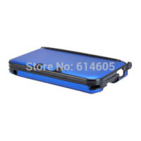 Wholesale Metal Case Nintendo 3ds Xl - Blue Anti-shock Hard Aluminum Metal Box Cover Case Shell for Nintendo 3DS XL  3DS LL shell button