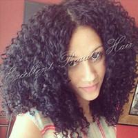 Short Style Kinky Curly 12inch Indian Full Lace Wigs Hair Hair Lace Front Wigs 100% Необработанный дешевый парик для афро-американских женщин