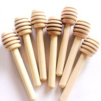 Wholesale Wooden Honey Dippers Wholesale - 8cm Mini Wooden Honey Stick Honey Dippers Party Supply Spoon Stick Honey Jar Stick High Quality
