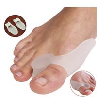 Wholesale Pc Massager - 10 pcs Silicone Gel Bunion Splint Big Toe Separator Overlapping Spreader Protection Corrector Hallux Valgus Foot Massager