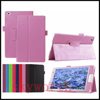 PU Leather Folio Flip Folding Case Cover para Lenovo Tab 2 10.1 Tablet pc A7600 A10-70 A10-70F A8-50F Stand