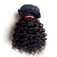 kinky kıvırcık insan saçı satışı toptan satış-Fabrika Doğrudan Satış Brezilyalı Bakire İnsan Kinky Kıvırcık saç uzatma 8-12 inç Kısa Bob Tarzı Tam Manikür İşlenmemiş Hint remy Saç