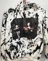 Wholesale Organic Lavender - SS Pyrex 13SS C O OFF Virgil Abloh WHITE Hoodies Religious stripe 13 print Pullovers Men Cotton Hooded sweatshirt