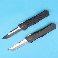 Wholesale Fine Edge - Special Offer Micro Marfione Custom Combat Troodon Hellhound Knife D2 Single Edge Fine Blade Knife Aviation aluminum Handle EDC Gear