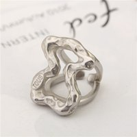 Wholesale fashion panda - New Arrival Panda style Top Quality Fashion Big style Brand Jewelry Stainless Steel Wholesale Silver Rings Anillo OSOS