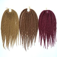 Wholesale crochet box braids hair for sale - Kanekalon Synthetic braiding hair Bulk Crochet Box Braids inch g X Twist Synthetic hair extensions hot sale