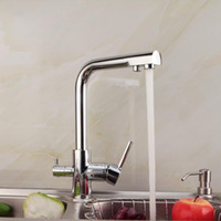Wholesale Pure Copper Kitchen Faucet - 2015 New Chrome Ceramic Griferia Grifos Cocina Torneira Para Cozinha Kitchen Sink Faucet Pure All Copper Hot And Cold Double Tap