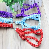 Wholesale Nylon Dog Leash Harness - Free Shipping Lotus leaf lace dog leash harness Small Puppy Pet Nylon Training Rope Leads Pet collar chain Teddy dog collars 3 color 40g