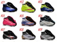 Wholesale 2016 new kids soccer shoes high top soccer boots botas de futbol superflys ag boys soccer cleats girls womens football shoes