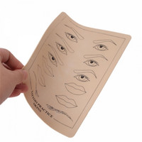Wholesale tattoo beginner online - Top Quality Permanent Makeup Eyebrow lips Tattoo Practice Skin Training Skin Set For Beginners free ship