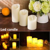 ingrosso fata leggera a letto-LED Candle Light Tea Lights Batteria Flicker Senza fiamma Decorazione Candela Festa di nozze Decorazione natalizia Candela di simulazione