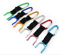 Wholesale Clip Water Bottles - 200 pcs camping Carabiner Water Bottle Buckle Hook Holder Clip For Camping Hiking survival Traveling tools