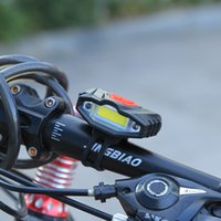 Wholesale Bycicle Lights - Wholesale- 2017 Bicycle Front Light High Power Waterproof USB Rechargeable Bike Light Safety Warning LED Handlebar Cycling Bycicle Light