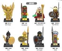 Wholesale Mini Figure Marvel - Building Blocks Marvel vking Saint seiya Aborigines Hun Warrior Ares Athena Evil Keight Chief Mini action figures Bricks