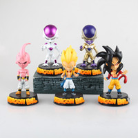 Wholesale Kid Buu - dragon ball freezer Majin Buu son GOKU Gotenks action figures toys PVC Collective Dolls With Box Best Present 5 designs available in stock