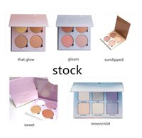 Wholesale Sun Glow Wholesale - 2016 New Ana Glow Kit Makeup Face Blush Powder Blusher Palette Cosmetic 5Shades: Gleam That Glow Sun Dipped Sweets Moon Child DHL free
