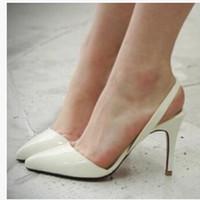 Wholesale Sandals 9cm Heel - Wholesale-Sexy Point Toe Patent Leahter High Heels Pumps Shoes 2016 Newest Woman's Red Sandals Heels Shoes Wedding Shoes 9cm 35-41 Size