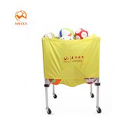 Wholesale Bag For Cart - Maicca Folding Soccer Balls Storage Cart Protable Carriage For Basketball Volleyball Rugby Handball Locker Cabinet Carry Bag