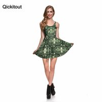 Wholesale Old Times Dresses - Drop Ship Brand New 2014 Sexy Women Casual Dress Tale As Old As Time Reversible Skater Dress Pleated Print Dresses