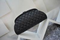 Wholesale Diamond Shaped Button - Free shipping! New women's leather clutch 100% high quality caviar grain dumplings bag Classic diamond shape phone bag cosmetic bag
