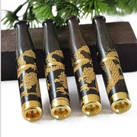 Wholesale Ebony Dragon - Fine carved dragon about 8-9cm ebony cigarette holder super double filter