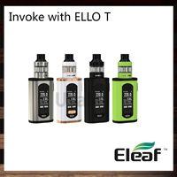 Wholesale large mods for sale - Eleaf Invoke With Ello Kit W Invoke TC Box MOD inch Display ml ml Ello T Tank Large Air Inlets Original