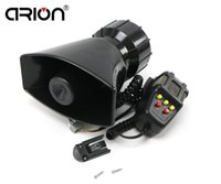 Wholesale CIRION DC12V Car Electronic Warning Siren Alarm Police Firemen Ambulance Loudspeaker with MIC sound style