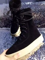 Wholesale Womens Size Cloths - Kanye West Season 2 Crepe Boot YEZ Brown 2016 New Boots High Cut Made in Spain with Original box fashion sneakers Men womens boot size 36-46
