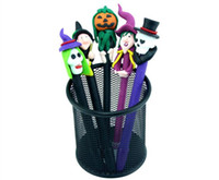 Wholesale Pottery Face - Halloween decorations Ball pen Face pen Pumpkin lantern skeleton head gost face pen Painted pottery pen Halloween gifts in stock