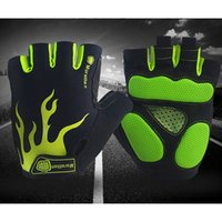 Wholesale Finger Bmx - Breathable Shockproof Half Finger Gloves Cycling Men Women BMX MTB Bike Hiking Outdoor Sports Gloves cycle Guantes Bicycle Fitness Equipment