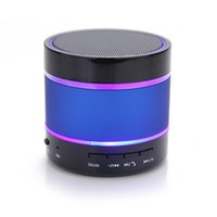 Wholesale sound card usb input - S09 Outdoor Portable Wireless Bluetooth 2.1 Smart Speaker with Colorful Light Music Sound Box Support USB   AUX   TF Card input