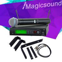 Wholesale Slx Wireless - Top Quality SLX SLX24 BETA58 with RACK MOUNTING BRACKET RACK KITS !! UHF Wireless Super Cardioid BETA Microphone System