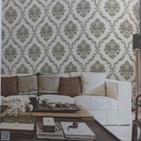 Wholesale Embossing Wallpaper - Europe classic wallpaper embossing wall paper roll Damask vinyl wallpaper for home decoration