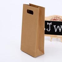 Wholesale Paper Baking Bread - DHL & SF_Express Kraft Paper packing bag Sandwich Bag Baking Cake Toast Bread Pack Bag Christmas Dessert Gift Package