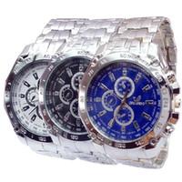 Wholesale Orlando Wristwatch - ORLANDO Men's Business Watch Fashion Man Wrist Watch Stainless Steel Wristwatch Luxury 3 Eyes Decoration Watch Quartz Movement Watch