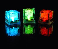 Wholesale Wholesale Glowing Ice Cubes - 30Pcs Colorful Led Light Up Ice Cubes Toy Glowing In The Water Wedding Decoration Novelty Beautiful Supplies With Battery