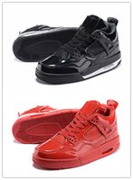 Wholesale Good Bond - Air Retro 4lab11 Eminem Red Black Brand Men Women Basketball Shoes Cheap Good Quality Street Fashion Size 5.5 13 Free Shipping Wholesale