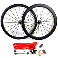 Wholesale 26 Bicycle Wheelset - Carbon road bike wheels front wheel 38mm and rear wheel 50mm clincher tubular bicycle wheelset basalt brake surface 700c clear coat 3K matte