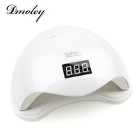 Wholesale Lcd Nail - Dmoley48W UV LED Lamp Nail Dryer SUN5 Nail Lamp With LCD Display Auto Sensor Manicure Machine for Curing UV Gel Polish 2 Mode
