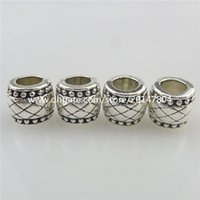 Wholesale 19515 Vintage Silver Alloy Totem Hole mm European Beads for Bracelet jewelry Fashion Findings