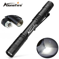 ingrosso mini torce tattiche-AloneFire P50 CREE LED Mini Torcia a clip da cintura Torcia a tasca Flash portatile Mini torcia tattica Torcia Lampada torcia