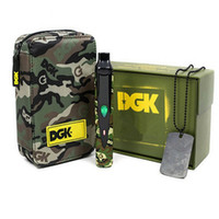 Wholesale Camouflage Kit - DGK Camouflage package Portable E cigarette kit 2200mAh Thermostat regulator battery vaporizer dry herb Herbal Wax Vapor Travel vape Kit