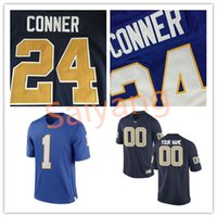 Wholesale Baseball Alumni - New Men Pitt Panthers #24 James Conner Jersey #25 LeSean McCoy #1 Larry Fitzgerald Alumni College Navy Blue Customi Women Kids Youth Jerseys