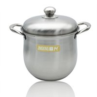 Medium Stainless Steel Prep N Cook Stockpot 8 quart Cuori metallizzati Standard Classic Acciaio inossidabile Stockpot con coperchio Large Silver