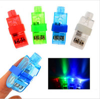 parmak lamba ışığı toptan satış-1000 adet Üreticileri satış LED Parmak Lambası LED Parmak Yüzük Işıkları Glow Lazer Parmak Kirişler LED Yanıp Sönen Halka Parti Flaş Çocuk Oyuncakları 4 Renkler