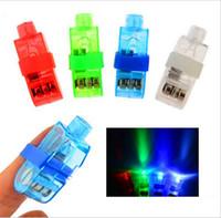 fingerlampe licht großhandel-1000pcs Hersteller-Verkauf LED-Finger-Lampe LED-Finger-Ring-Lichter Glühen Laser-Finger-Balken LED-blinkender Ring Party-Flash-Kind Spielzeug 4 Farben