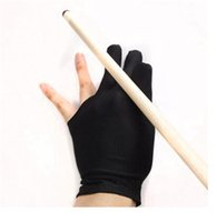 Schwarz Drei Fingers Snooker Billard Pool Shooters Cue Handschuhe Stretchable Lycra Professional Fit Links Rechtshandschuh jy539