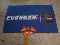 Wholesale Outboard Motors Free Shipping - Free shipping,100% polyester 90*150cm,Evinrude Outboard Motors flag,Evinrude racing team banner,Digital Printing